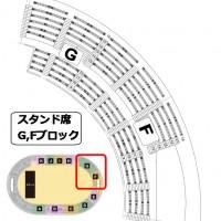 神戸ワールド記念ホール スタンド席 F,Gブロック